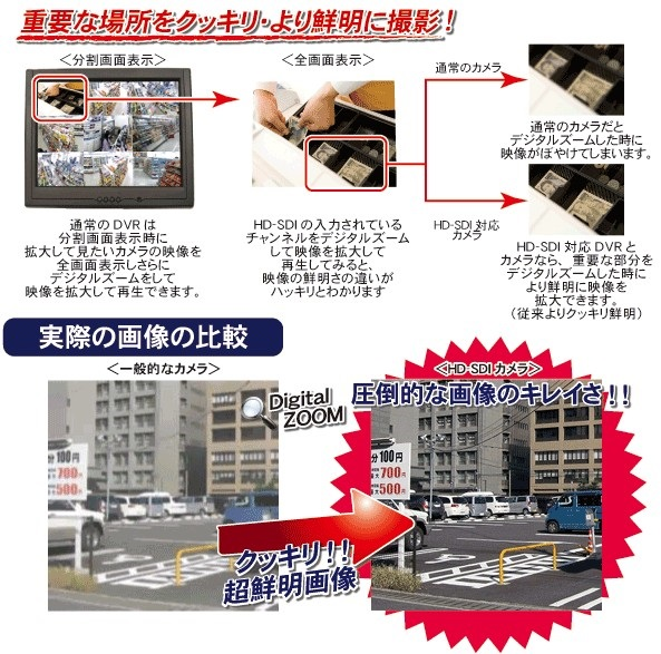 HD-SDI防犯灯カメラ画像イメージ