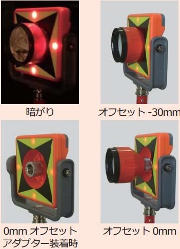 2.5インチプリズム(MG-2504)専用のLEDプリズムターゲット LED-30