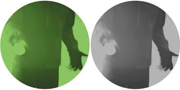 エクイノクス4第二世代相当デジタル暗視スコープがグッと近くにやってきた。デジタル暗視技術ならではの鮮明な造影。モノクロ造影と伝統的なほんのり緑がかった造影をワンタッチで切り替えできるデュアル造影モード搭載。