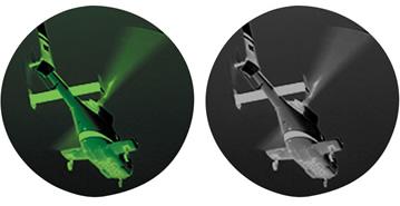 エクイノクス6第二世代相当デジタル暗視スコープがグッと近くにやってきた。デジタル暗視技術ならではの鮮明な造影。モノクロ造影と伝統的なほんのり緑がかった造影をワンタッチで切り替えできるデュアル造影モード搭載。