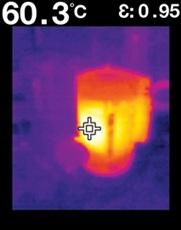 サーマル放射温度計 フリアーTG165 ホットスポットを離れた場所から特定し計測