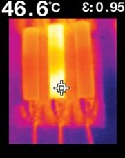 サーマル放射温度計 フリアーTG165 電気設備の温度をチェックし、システムが適切に動作しているか確認