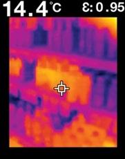Thermal Radiation Thermometer FLIR Exseries フリアーTG165 店頭の冷蔵・冷凍効率を視覚化
