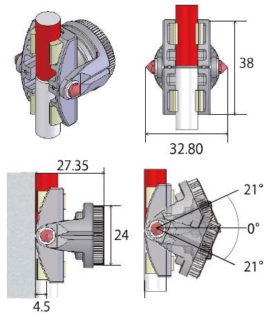 狭い場所でも威力を発揮する0.7インチ最小プリズム M-700CPセット
